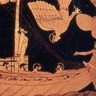 Le Sirene e Odisseo, Stámnos attico a figure rosse rinvenuto a Vulci, V secolo a.C., Londra, British Museum | La prima apparizione delle Sirene in letteratura risale all'Odissea di Omero, che narra dell'incontro di Odisseo con le mitiche creature dal canto ammaliatore, legato all'albero della sua nave per non caderne preda. Per gli antichi Greci il canto delle Sirene, raffigurate al tempo come esseri ornitomorfi, simboleggiava sapienza e conoscenza.