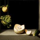 Juan Sánchez Cotán (1560 - 1627), Natura morta con mela cotogna, cavolo, melone e cetriolo, 1602 circa, San Diego Museum of Art