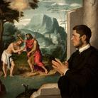 Giovanni Battista Moroni, Gentiluomo in Contemplazione del Battesimo di Cristo, Metà degli anni Cinquanta del 1500, Olio su tela, 113 x 104 cm, Collezione Etro