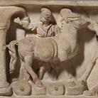 Elemento di sarcofago romano, Fine del II secolo d.C., Marmo, con particolare del Cavallo di Troia | Foto: © Ashmolean Museum, Università di Oxford