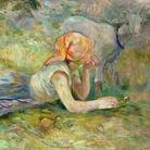 Berthe Morisot (1841 - 1895), Pastorella sdraiata, 1891, Olio su tela, 63 x 114 cm, Parigi, Musée Marmottan Monet, lascito Annie Rouart, 1993 | © Musée Marmottan Monet, Paris / Bridgeman Image