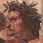 Raffaello Sanzio, Disputa del sacramento, dettaglio Dante, 1508-1509. Stanza della Signatura, Città del Vaticano.