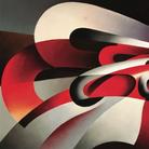 Tullio Crali, Le forze della curva, 1930, Olio su tela, 89 x 69 cm, Collezione privata