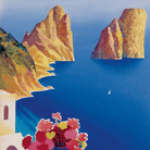 Mario Puppo, Bozzetto per Capri l'isola del sole, 1954