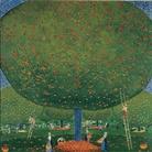 Cuno Amiet, La raccolta delle mele (Apfelernte), 1907, Olio su tela, 100.5 x 100 cm, Kunstmuseum Solothurn, Schenkung Frau Monique Barbier-Müller in Erinnerung an ihren Vater Josef Müller, 1977