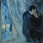 Edvard Munch, Il bacio con la finestra, 1892, Olio su tela, 73 x 92 cm, Oslo, National museet for kunst