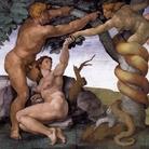 Michelangelo Buonarroti, Peccato originale e cacciata dal Paradiso terrestre, 1510 circa, Affresco, 570 x 280 cm, Cappella Sistina, Musei Vaticani, Città del Vaticano, Roma