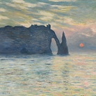 Claude Monet (1840 - 1926), Scogliera a Étretat al tramonto, 1883, Olio su tela, 60.5 x 81.8 cm, Raleigh, North Carolina Museum of Art