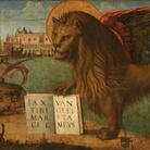 Vittore Carpaccio, Leone marciano andante, 1516, Tempera su tela, 130 x 368 cm, Venezia, Palazzo Ducale