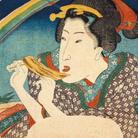 Utagawa Kuniyoshi, Arcobaleno primaverile (Haru no niji), 1836, Silografia policroma (nishikie), 30.3 x 22.7 cm, Masao Takashima Collection