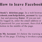 Jeremy Deller. How to leave Facebook