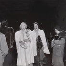 Weegee (Arthur H. Felling), The Critic - Mrs. Cavanaugh and friend about to entr The metropolitan Opera House