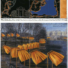 Christo, The Gates (Project for Central Park, New York City), Collage 2003 in 2 parts, 12 x 30,5