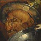 Giuseppe Arcimboldo, Il Cuoco / Piatto di arrosto, Olio su tavola, 41 x 52.5 cm, Stoccolma, Nationalmuseum
