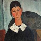 Amedeo Modigliani (Livorno,1884 - Paris, 1920), Elvire au col blanc (Elvire à la collerette), 1917 o 1918, Olio su tela, 65x 92 cm, Collezione Jonas Netter