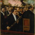 Edgar Degas, L'orchestre de l'Opéra / L'orchestra dell'opera,1870 circa.Olio su tela, cm 56,5 x 45