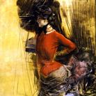 Giovanni Boldini, Signora in casacca rossa, 1882 circa. Pastello su carta, 100 x 73 cm