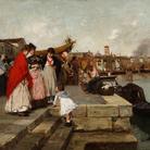 Pietro Fragiacomo, Alle Zattere, olio su tela, 60 x 90 cm. Collezione privata