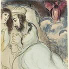 Marc Chagall, Sara e Abimelech, 1960. Litografia a colori, cm 35,5x26,3. Lascito Noah Chodos, New York, all'American Friends of the Israel Museum © Chagall ® by SIAE 2 015
