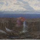 Emilio Longoni, La voce del ruscello. Olio su tela, 100 x 140 cm