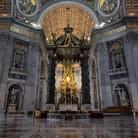 Baldacchino di San Pietro a Roma, Gian Lorenzo Bernini, 1624-1633, Immagine tratta dal film