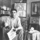Juti Ravenna nell'atelier di Palazzo Carminati, ABLM, Foto artisti atelier, 1930 circa