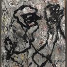 Jackson Pollock, Composition with Black Pouring, 1947. Olio e smalto su tela, montata su masonite, The Olnick Spanu Collection © Jackson Pollock, by SIAE 2014