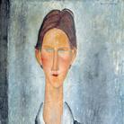 Amedeo Modigliani, Giovane con i capelli rossi o Lo studente, 1919, Olio su tela, 46 x 61 cm | Courtesy Richard Delh. K.A.D. Gallery - Bruxelles e Palazzo Ducale, Genova 2017