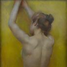 Sophie Browne, Nudo di schiena, Pastello su carta, 68 x 125 cm