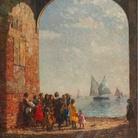 Beppe Ciardi, Il ritorno delle barche da pesca, 1920 circa, Olio su tela, 104 x 124 cm, Milano, Collezione privata | Courtesy of Galleria Bottegantica