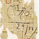 Joan Miró, Senza Titolo, 1960, Guazzo e pastello a cera su carta, 22,2 x 17,5 cm