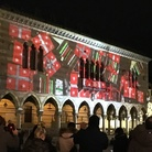 Luca Agnani. Proiezione 3D sulla facciata della storica Loggia del Lionello