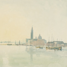 Joseph Mallord William Turner, San Giorgio Maggiore - Early Morning, 1819, Acquerello su carta, 287 x 223 mm, Tate, Accepted by the Nation as part of the Turner Bequest 1856 | Courtesy of Chiostro del Bramante 2018