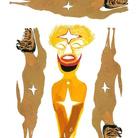 Canemorto & Carlo Zinelli. Carlo giallo su sfondo di tre cani