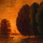 Gaetano Previati, Paesaggio, 1910-1912 circa, Olio su tela, 80.5 x 150.5 cm, Ferrara, Museo dell'Ottocento