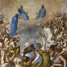 Tiziano Vecellio (Pieve di Cadore, 1488/1490 - Venezia, 1576) , La Gloria, 1551-1554, Olio su tela, 240 x 346 cm,Museo del Prado, Madrid