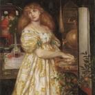 Dante Gabriel Rossetti (1828 - 1882), Lucrezia Borgia, 1860-1861, Grafite e acquerelo su carta, 43.8 x 25.8 cm, Londra, Tate Britain