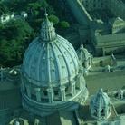 Veduta aerea della cupola della Basilica di San Pietro a Roma, Immagine tratta dal film