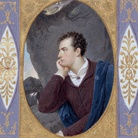 Giovanni Battista Gigola, Ritratto di Lord Byron in The Corsair of Lord Byron, 1826, Acquerello e gouache su pergamena, tavola fuori testo in The Corsair of Lord Byron, Milano, Printed by the Typographical Society of Ita-lian Classicks, 1826 Brescia, Ateneo di Scienze Lettere ed Arti Onlus | Fotostudio Rapuzzi, Brescia