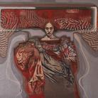 Tarik Berber, Dalla serie Windsor Beauties, Windsor Beauty #3, Olio su tela, 140 x 10 cm, Zadar, 2017 | Courtesy Tarik Berber e Fondazione Maimeri 2019 | © Tarik Berber