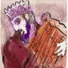 Marc Chagall, Davide, 1956. Disegno per l'edizione Verve della Bibbia (nn.33-34). Inchiostro di china, gouache, acquerello e grafite su carta, cm 35,6x26,5. Dono di Ida Chagall, Parigi © Chagall ® by SIAE 2 015