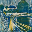 Edvard Munch, Le ragazze sul ponte 1918 Disegno a colori, cm 58,20 x 42,90 Collezione private © The Munch Museum / The Munch-Ellingsen Group by SIAE 2013