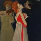 Leopoldo Metlicovitz, Sogno d'un valzer, 1910, Cromolitorafia su carta, 99 x 199 cm | Courtesy of Museo Nazionale, Collezione Salce, Treviso