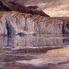 Carlo Cressini, Le gelide acque del lago Marjelen, 1908 ca., olio su tela. Verbania, Museo del Paesaggio