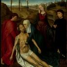 Hans Memling, Compianto su Cristo Morto con un donatore, 1470-1475 circa. Roma , Galleria Doria Pamphilj