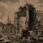 Giambattista Piranesi, Vedute di Roma, Veduta dei resti dei triclini della Domus Aurea di Nerone, Acquaforte, 45.5 x 57.4 cm | Courtesy Musei Civici di Bassano del Grappa