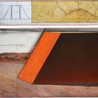 Christo, The Mastaba (Project for Abu Dhabi, United Arab Emirates), Drawing 2012 in 2 parts, 15 x 96