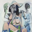 Pablo Picasso, Donna e bambine, 1961, Olio su tela, 113.7 x 146 cm, Philadelphia Museum of Art, Donazione di Mrs. John Wintersteen, 1964