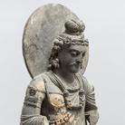 Bodhisattva Maitreya, Gandhara, II-III secolo d.C.,Scisto grigio, 88 cm