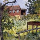 Edvard Munch, Giardino con casa rossa 1882 olio su cartone, cm 23,00 x 30,50 Collezione privata © The Munch Museum / The Munch-Ellingsen Group by SIAE 2013